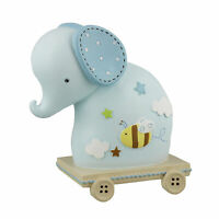 En Caja Cerámica Lindo Elefante Caja de Dinero - Regalo de Bebé - Blue