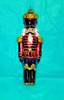 "GUMPS Hand Blown Glass Ornament ""The Nutcracker""  5.50"" Tall - Made in Poland"