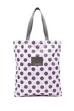 New MARC JACOBS Floral Dot Printed Packables Shopper Tote Bag Pink Multi $120