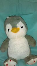 "Penguin Cloud B Dreamy Hugginz 11"" tall Plush  With Red Stars on Feet"
