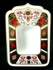 Royal Crown Derby Old Imari Ist Quality Photo Frame In Original Satin Lined Box