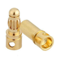 40PCS 20Pairs 3.5mm Gold Plated Male&Female Bullet Banana Plug Connector L