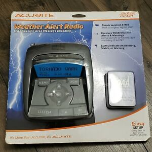 New ACU-RITE Weather Alert Radio NOAA 4.5V AC Adapter Easy To Set Up & Use