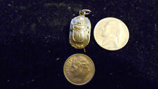 bling pewter gray egyptian scarab bug myth Charm Pendant hip hop chain Necklace