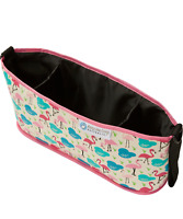 Keep Me Cosy™ Pram & Stroller Organiser, Cup Holder Caddy Bag - Flamingo