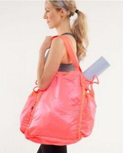 Lululemon Pack Your Practice Bag Pow Pink Yoga Pilates Gym Tote