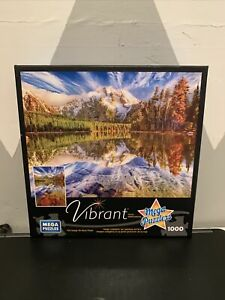 Mega Puzzles Vibrant 1000 Piece Leigh Lake Reflections Jigsaw Puzzle New