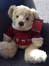 Harrods Christmas Bear Maxwell Foot Dated  2009 With Tags