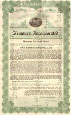 Nemours > 1931 Jacksonville Florida bond certificate Alfred duPont Edward Ball