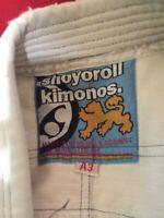 Shoyoroll Kimonos Men's White Jiu Jitsu Gii Size A3 Made for Rebels Against the