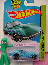 2014 Hot Wheels '69 CORVETTE 1969 Chevy #214☆Kmart Exclusive SKY BLUE☆Heat