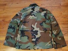 U.S ARMY SIZE M SHORT WOODLAND BDU CAMO COMBAT JACKET PATCHES