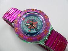 1993 Scuba 200 Swiss Swatch Watch Cherry Drops SDG102 Pink