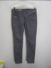 EUC AG Adriano Goldschmied Stevie Ankle Pants polka dot gray micro wale cord 25R