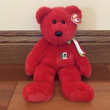 """Ty Beanie Buddies Collection Osito Red Bear Mexican Flag 13"""" NWT"""