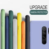 Para Xiaomi Poco X3 NFC 9 9A 9C Note 9S 8 Funda silicona líquida a prueba golpes