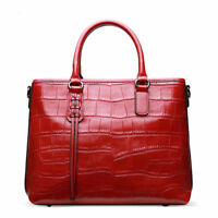 2018 Genuine Leather Crocodile Women's Satchel Handbag Tote Purse Shoulder Bag