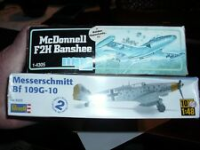 2 MODEL AIRPLANES SEALED MESSERSCHMITT AND OPENED SEALED IN PLASTIC McDONNELL F2