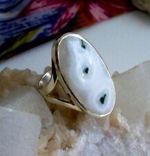 Ring mit einem Solar Quarz, 925er Silber, Gr 18,4 - Rarität - Stalaktit