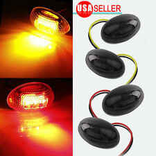 4X Red&Yellow Side Dually Bed Marker LED Lights For 1999-2010 Ford F350 Smoke US