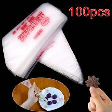 100 x Plastic Disposable Icing Piping Frosting Pastry Bag Cake Sugarcraft DIY XD