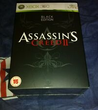 Assassin's Creed II 2 Black Edition Xbox 360 Sealed UK Pal NEW