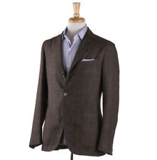 NWT $1595 BOGLIOLI Lightweight Wool-Silk-Linen Check 'K Jacket' Sport Coat 40 R