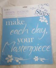 Stencil 12in. x 12in. [make each day your Masterpiece]