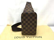 "Auth Louis Vuitton Damier Geronimos Cross Body bag 9F180010m"""