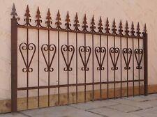 FORGE FER clôture des clôtures rankzaun Bachus-z80//200 brut rouille