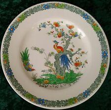"Vintage Copeland Spode Bermuda 9"" Dessert Salad Plate Hand Painted Pheasants 30s"