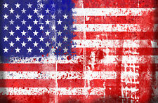 "American, USA, United States of America Flag 24""x36"" Canvas Wall Art Print"