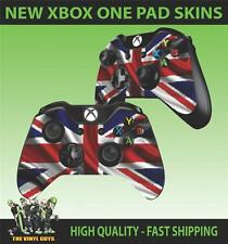 XBOX ONE CONTROLLER PAD STICKER NEW LOOK UNION JACK FLAG CLEAN WAVY SKINS X2