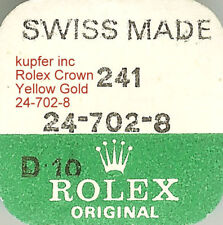 ROLEX FACTORY SEALED YELLOW GOLD CROWN 24-702-8 NEW!!!