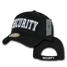 Black Security Guard Officer Embroidered Baseball Mesh Ball Cap Hat Caps Hats