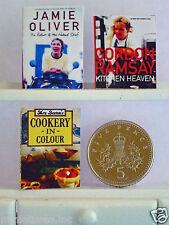 3 poupées maison miniature livres cuisine jamie oliver-Gordon Ramsay-Mme Beeton