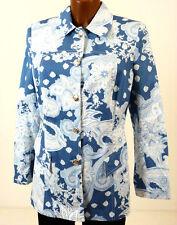 GLÖÖCKLER Jeansjacke blau weiß Gr. 38  POMPÖÖS HARALD GLÖCKLER   Jeansblazer