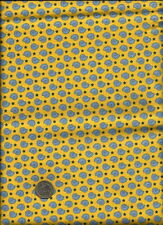 """""""Scrappy and Happy Baby"""" Print on yellow Fabric by Janet Selck for Northcott"""