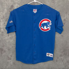 Vintage MLB Chicago Cubs #34 Kerry Wood Mens Jersey Size XL Majestic Blue