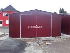 Blechgarage 4x7x2,55 in R3005 Halle Garage aus verzinkten Vierkantprofilen NEU
