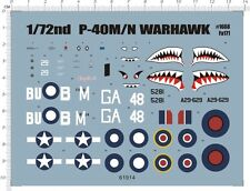 Detail Up 1/72 WW II Curtiss P-40 Fighter P-40M P-40N warhawk Model KIT Decal