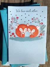 Love American Greeting Card Foxes Valentines Beautiful We Have Each Other