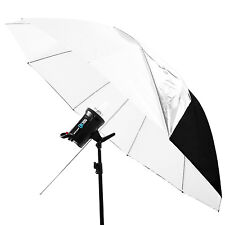 """Neewer 59"""" White Convertible Lighting Umbrella with Removable Black Cover"""