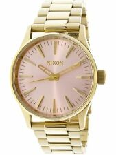 Nixon Women's Sentry 38 Ss A4502360 Gold Stainless-Steel Diving Watch