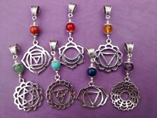 Silver Plated Chakra Round Costume Necklaces & Pendants