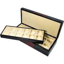 Black and Laminated Burlwood Veneer 24 Cufflink Box by Hillwood Uk Ltd