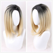 Culture Evil Bride Of Chucky blonde with dark root short bob hair Cosplay Wig