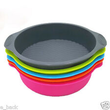 "9"" DlY Cake Pan Shape 3D Silicone Cake Mold Baking Tools Bakeware Maker Tray CA"