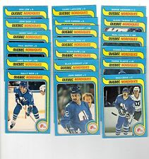 1X QUEBEC NORDIQUES 1979 80 opc FULL TEAM SET O Pee Chee EX-EXNM Lots Availab