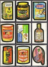 1989 ORIGINAL O-PEE-CHEE WACKY PACKAGES LOT of (9) NM/MT BETWEEN 1-36